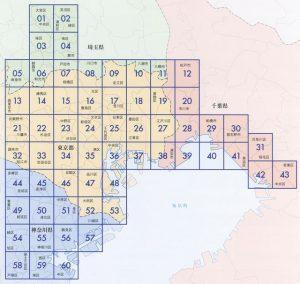 首都大地震揺れやすさマップ 目次の地図